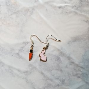 Hand Crafted Jewelry - BUNNY RABBIT | Enamel Earrings Stainless Steel